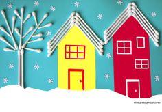Lavoretti per l'inverno Snow Crafts, Tree Crafts, Diy And Crafts, Snow Activities, Alphabet Activities, Projects For Kids, Diy For Kids, Crafts For Kids, School Painting