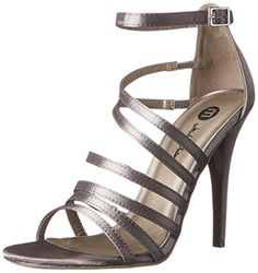 Michael Antonio Womens Eve Sat Dress Sandal Pewter 8 M US >>> Read more reviews of the product by visiting the link on the image.