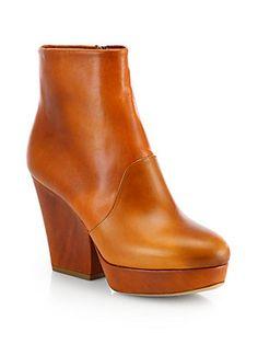 Maison Martin Margiela Leather High-Heel Ankle Boots