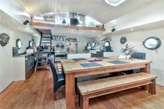 1 bedroom property for sale in Poplar Marina Dock, London, - Rightmove. Contemporary Bathrooms, Contemporary Interior, Lakefront Property, Boat Interior, Rustic Design, Property For Sale, Living Spaces, Boathouse, London