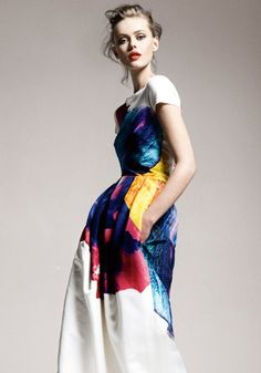 Gorgeous!!! I have been all over color for the spring! And, of course, I am always a fan of bellowing dresses. BEAUT!
