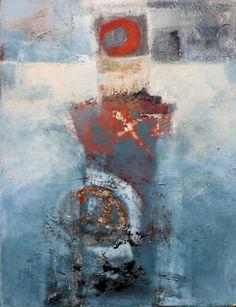 """Sophie Van Moffaert, """"Aérienne"""", acrylique sur toile"""