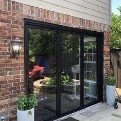 Double Patio Doors, French Doors Patio, Bifold Doors Onto Patio, Kitchen Patio Doors, Home Renovation Costs, House Extension Design, Outdoor Doors, Garage Door Makeover, Aluminium Doors