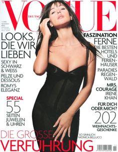 Monica Bellucci for Vogue Magazine, Germany, November 2003 Vogue Magazine Covers, Vogue Covers, Vogue Fashion, Fashion Models, High Fashion, Tim Walker, Peter Lindbergh, Fotografie Workshop, Monica Bellucci Young