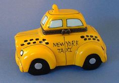 New NYC Central Park Yellow Taxi Cab New York City Porcelain Trinket Box | eBay