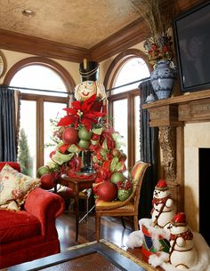 Christmas decoration ideas (and Vlad is a much more attractive nutcracker with which to execute this idea)