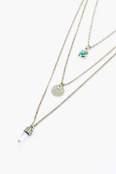 Crystal Layering Necklaces in Gold Collier Doré, Cristaux, Pendentif,  Colliers, Colliers Superposés 722bb127d5a
