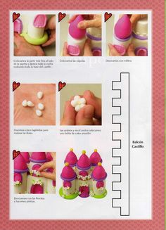 STEP BY STEP CASTLE PART N°.3 cake decorating tutorial NO LINK Cake Decorating Techniques, Cake Decorating Tutorials, Cookie Decorating, Cake Icing, Fondant Cakes, Cupcake Cakes, Frosting, Fondant Figures, Torta Angel