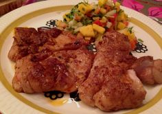 Cajunkylling med mangosalsa Frisk, Steak, Pork, Pork Roulade, Pigs, Steaks, Beef, Pork Chops