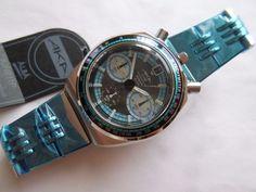 "SEIKO ALBA AKA BULLHEAD CHRONOGRAPH V657-6080 BLUE ""NEW OLD STOCK"" | eBay"