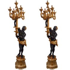Gorgeous Pair of Venetian Blackamoor Torcheres | From a unique collection of antique and modern floor lamps  at http://www.1stdibs.com/furniture/lighting/floor-lamps/
