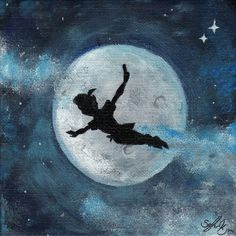 Peter Pan - Painting by zzoffer on DeviantArt can find Deviantart and more on our website.Peter Pan - Painting by zzoffer on DeviantArt Disney Love, Disney Art, Disney Canvas, Disney Songs, Disney Quotes, Peter Pan Painting, Peter Pan Art, Peter Pan Drawing, Peter Pan Shadow
