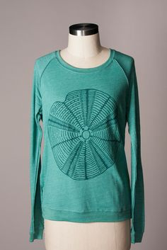 Supremely comfortable lightweight pullover with a giant sea urchin!  So fun.