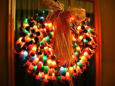Shot gun shell wreath!  Awesome.  I want one on my door.  Great for Flint!!