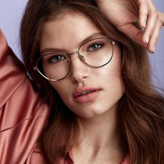 Brace Rose Gold - A timeless metal vintage-inspired frame with a teardrop shape, high nose bridge and nose pads. Cute Glasses, Girls With Glasses, Glasses Frames, Womens Fashion Online, Latest Fashion For Women, Cat Eye Colors, Beauty Makeup Tips, Beauty Tricks, Eye Makeup
