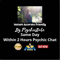 Affordable Eye-Opening Same Day Psychic Instant TEXT Messaging CHAT through WhatsApp, Messenger, or Skype.  Unlimited Questions 30-minute chat, giving 300 words on average.  Not a phone, video, email, or mp3 reading. This reading is truly authentic and is different each time you have a new reading.  Pure angel/fairy channeling and communication.#Clairvoyant reading #spiritual readings #clairvoyantreadings #spiritualreadings #mediumreadings