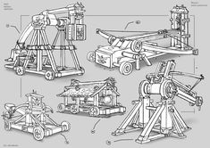 Plans moreover Weapons together with Trebuchet Drawing in addition Catapult Blueprints further Baliste. on medieval onager