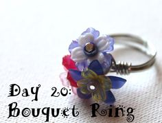 Wire Wrapping for Beginners Day 20:  Flower Bouquet Ring.  I'm doing 1 project per day from my book Wire Wrapping for Beginners www.wirewrappingforbeginners.com #wirewrap #jewelrymaking