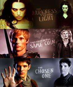 Morgana, Arthur,  Merlin