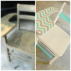 Back to school | children's school desk makeover #chevron @sophiamarieokiyama