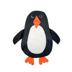 Egg-shaped penguin craft-- this project is great for kids who are ages 5 to 8.