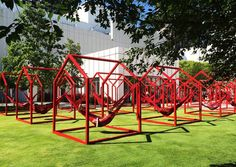 Héctor Esrawe and Ignacio Cadena have created 'Mi Casa, Your Casa', an interactive design installation on Siftly Piazza, as part of their designers-in-residence program at the Woodruff Arts Center in Atlanta, Georgia.