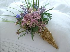 A Victorian Era Inspired Tussie Mussie . Small Flower Bouquet, Bridal Flowers, Cut Flowers, Small Flowers, Beautiful Flowers, Nosegay, Flower Cart, Paper Cones, Language Of Flowers