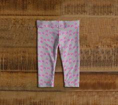 "Baby+leggings+""Pink+Flower+""+by+IC+Creations"