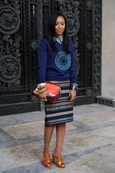 Can you tell this woman is an accessories editor? Rad nonetheless
