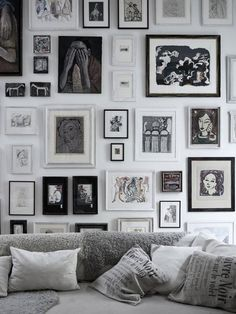 Great monochrome art wall