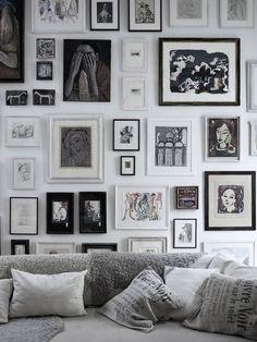 Great monochrome art wall