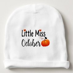 #little miss october baby beanie - #Halloween happy halloween #festival #party #holiday #kids #children