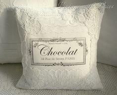France-inspired lace pillow