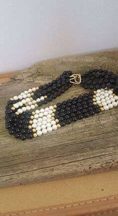 Excited to share the latest addition to my #etsy shop: Vintage Glass Bead Multi Strand Necklace 16 inches, Black and White Glass Bead Multi Strand Necklace http://etsy.me/2oVZpmt #jewelry #necklace #vintagejewelry #beadednecklace #blackandwhite #glassbead #vintageglass