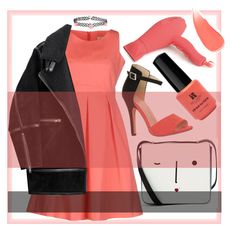 """""""coral ♥"""" by syoungju ❤ liked on Polyvore featuring Burberry, Red Carpet Manicure, Lulu Guinness, Corioliss, Maison Olivia, H&M, Accessorize, bellamonica, ljbminime and nurmachan"""