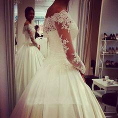 illusion Lace Wedding Dresses With Long Sleeve Sheath