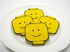 Lego Man Sugar Cookies, Perfect for a Lego Party!  by MrsCookieBakes, $30.00