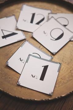 Art Deco Table Number Cards by Tuck & Bonté on Etsy Art Deco Wedding Dress, Wedding Art, Wedding Ideas, Wedding Photos, Trendy Wedding, Vintage Country Weddings, Wedding Vintage, 1930s Wedding, Gatsby Wedding