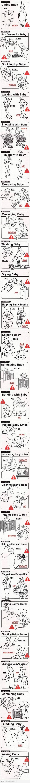 Baby do's and dont's - Qué hacer y qué no hacer con los bebés