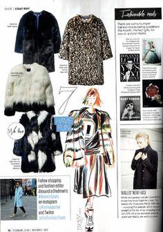 Multi coloured Fur coat Red Magazine Nov 2014