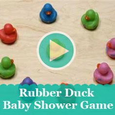 Baby shower guests will be racing to play this unique game rubber duck game. Ducky Baby Showers, Baby Shower Duck, Baby Shower Cakes, Baby Shower Gifts, Kate Baby, Baby Sprinkle, Rubber Duck, Party Themes, Party Ideas