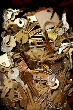 Lost Keys I have lots of really old rusty ones hanging from 2 giant key rings in my house