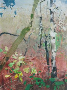 Minto Brown Tangle 12x9  watercolor on Yupo Randall David Tipton