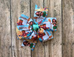 Moana 3 inch hair bow by binspiredbylife on Etsy