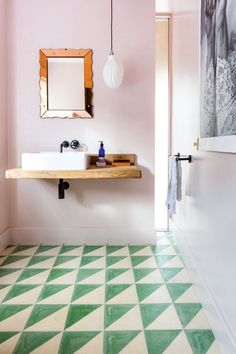 Find The Best Small Bathroom Interior Design Ideas And Smart Tips Small Bathroom Interior, Modern Bathroom Design, Bathroom Styling, Boho Bathroom, Pastel Bathroom, Bathroom Colours, Bathroom Green, Modern Bathrooms, Bathroom Furniture
