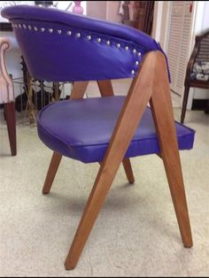 Vintage Retro  A Frame Purple Accent Chair with by ChairyPickers, $90.00