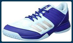 adidas Damen Ligra 5 Volleyballschuhe, Blau (Mystery Ink/Silver Metallic/Footwear White), 42 2/3 EU - Sportschuhe für frauen (*Partner-Link)