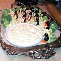My Cream Cheese Penguin appetizers made for a Christmas party.