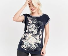 Oasis, LOTUS PLACEMENT TOP Navy