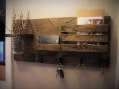 Mail Organizer, Rustic Organizer, Key Holder, Mail Holder, 4 Hooks Jar and Phone Shelf, Personalized Option Available by Rustastic on Etsy https://www.etsy.com/listing/265569782/mail-organizer-rustic-organizer-key